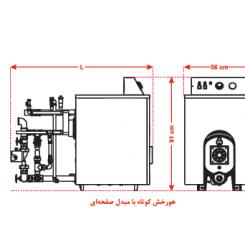 پکیج زمینی شوفاژکار مدل  هورخش 4 پره کوتاه